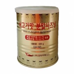 푸드) 코리아제니스 쇠고기맛 분말시즈닝(소가루) 680g(24ea)(1box)